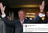 Everyone's talking about Nigel Farage's victory speech, but not for the reasons he thought