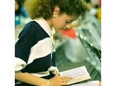 Christian Girl Beauty Teen reading The Bible.
