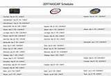 NASCAR 2017 Schedule