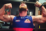 Chris Hemsworth is pumped for his Aussie football team, the Western Bulldogs