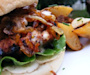 Kickin' Turkey Burger with Caramelized Onions and Spicy Sweet Mayo