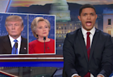 Trevor Noah mocks Donald Trump's sniffing problem at the first presidential debate