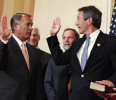 U.S. House Speaker Boehner swears in Rep.-elect Sanford to congress on Capitol Hill in Washington