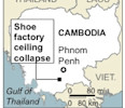 Map locates factory accident near Phnom Penh, Cambodia