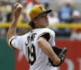 Pittsburgh Pirates starting pitcher Jeff Locke throws a pitch against the Houston Astros in the sixth inning of the MLB interleague baseball game on Sunday, May 19, 2013, in Pittsburgh . The Pirates ...
