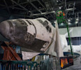 Shrink-Wrapped Space Shuttle Atlantis Uncovered for Display