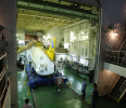 The Shinkai 6500, a Japanese submarine , is seen inside the Yokosuka ship at Rio de Janeiro&#39;s port after an expedition in Rio de Janeiro