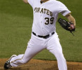 Pittsburgh Pirates closer Jason Grilli (39) delivers during the ninth inning of a baseball game against the Chicago Cubs in Pittsburgh , Tuesday, May 21, 2013. Grilli notched a major league leading ...