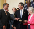 U.S. House Speaker Boehner holds the ceremonial swearing-in of Rep.-elect Sanford to congress in Washington