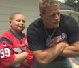 JJ Watt makes surprise visit to young cancer patient in Splendora