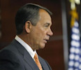 House Speaker John Boehner holds a news conference at the U.S. Capitol in Washington