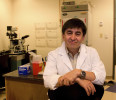 Dr. Shoukhrat Mitalipov, Ph.D., is pictured in his laboratory at Oregon Health & Science University in this handout photo