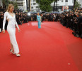 Model Doutzen Kroes and actress Jane Fonda arrive for the screening of the film &#39;Jimmy P.&#39; in competition at the 66th Cannes Film Festival