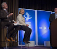 Former President Bill Clinton and former Secretary of State Hillary Clinton share a laugh with Rio de Janiero Mayor Eduardo Paes at the Clinton Global Initiative (CGI) Mid-Year Meeting Monday, May 6 ...