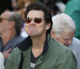 Carrey attends a hand and footprint ceremony for actress Jane Fonda in the forecourt of the Chinese theatre in Hollywood