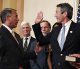 U.S. House Speaker Boehner swears in Rep.-elect Sanford to congress in Washington