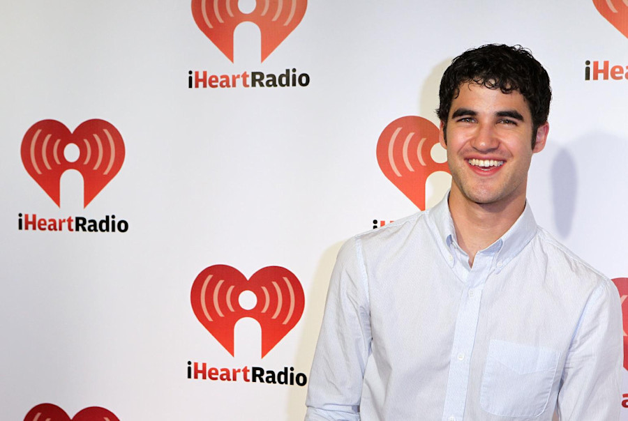 Darren Criss arrives at the iHeartRadio music festival on Saturday