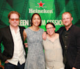IMAGE DISTRIBUTED FOR HEINEKEN - In this image released on Monday, April 29, 2013, Director Alex Meillier, left, Ambassador Sofia Mesquita Borges , second from left, Producer Tanya Meillier, and ...