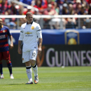 Manchester United's Wayne Rooney walks on the field during an International Champions Cup soccer match against FC Barcelona at Levi's Stadium, Saturday, June 25, 2015, in Santa Clara, Calif. (Terrell Lloyd/AP Images for Relevent Sports)