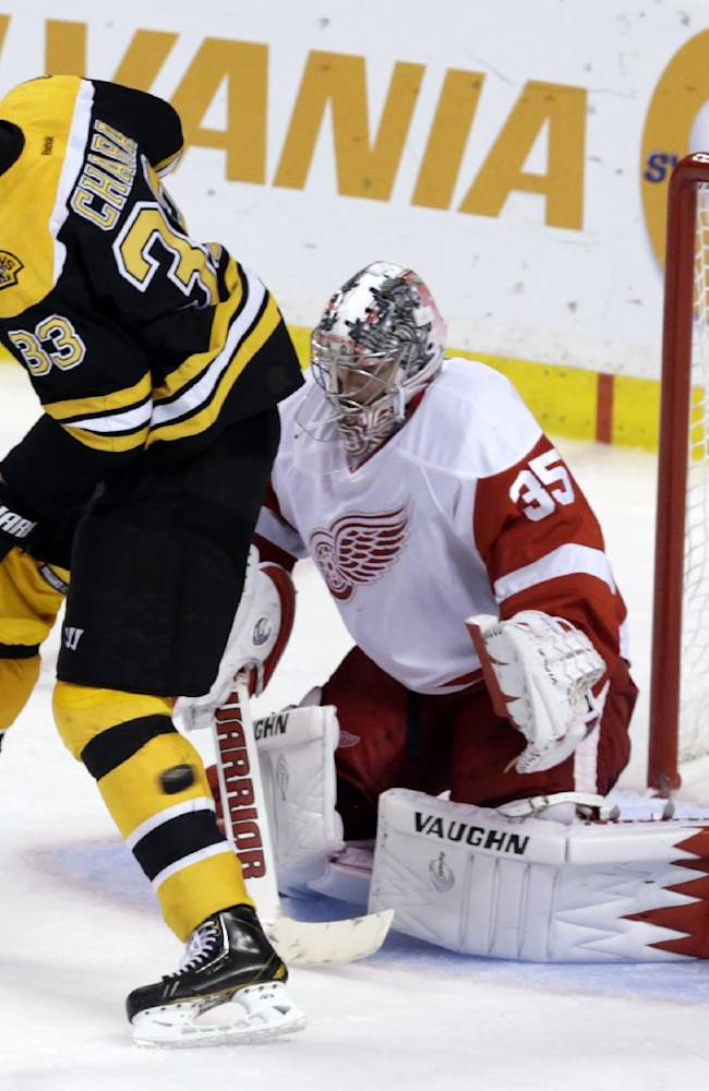 Rask stops 25 shots; Bruins beat Red Wings 4-1
