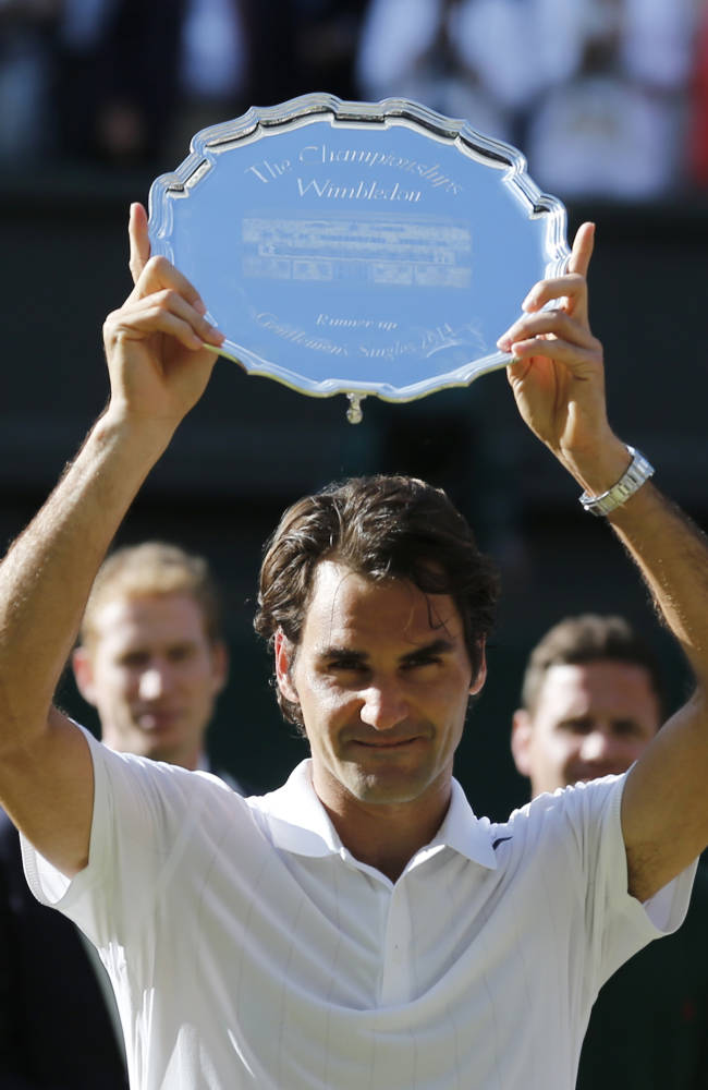 Federer bid for No. 8 at Wimbledon comes up short
