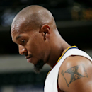 INDIANAPOLIS, IN - OCTOBER 18: David West #21 of the Indiana Pacers stands on the court during a game against the Dallas Mavericks at Bankers Life Fieldhouse on October 18, 2014 in Indianapolis, Indiana. (Photo by Ron Hoskins/NBAE via Getty Images)