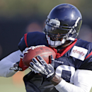 Houston Texans wide receiver Andre Johnson makes a catch during NFL football training camp Monday, July 28, 2014, in Houston The Associated Press