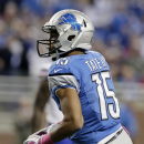 Detroit Lions wide receiver Golden Tate runs in for a 9-yard touchdown against the Buffalo Bills in the first quarter of an NFL football game Sunday, Oct. 5, 2014, in Detroit The Associated Press