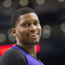 Sacramento Kings' Rudy Gay reacts during first half NBA basketball action against Toronto Raptors in Toronto on Friday March 7, 2014 The Associated Press