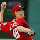 In this Sept. 6, 2014, file photo, Washington Nationals relief pitcher Ross Detwiler throws during the seventh inning of a baseball game against the Philadelphia Phillies at Nationals Park in Washington. The Texas Texas has completed a trade on Friday, De
