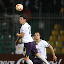 Everton's Gareth Barry goes for the header during the Europa League Group H soccer match between Krasnodar and Everton in Krasnodar, Russia, Thursday, Oct. 2, 2014