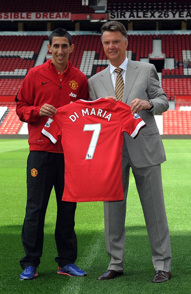 Angel di Maria Press Conference after signing for Manchester United