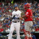 Angels win 8-2 in 1st game vs. Texas since trading Hamilton (Yahoo Sports)
