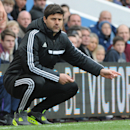 Southampton's manager Mauricio Pochettino is seen during the English Premier League soccer match between Aston Villa and Southampton at Villa Park, in Birmingham, England, Saturday, April 19, 2014