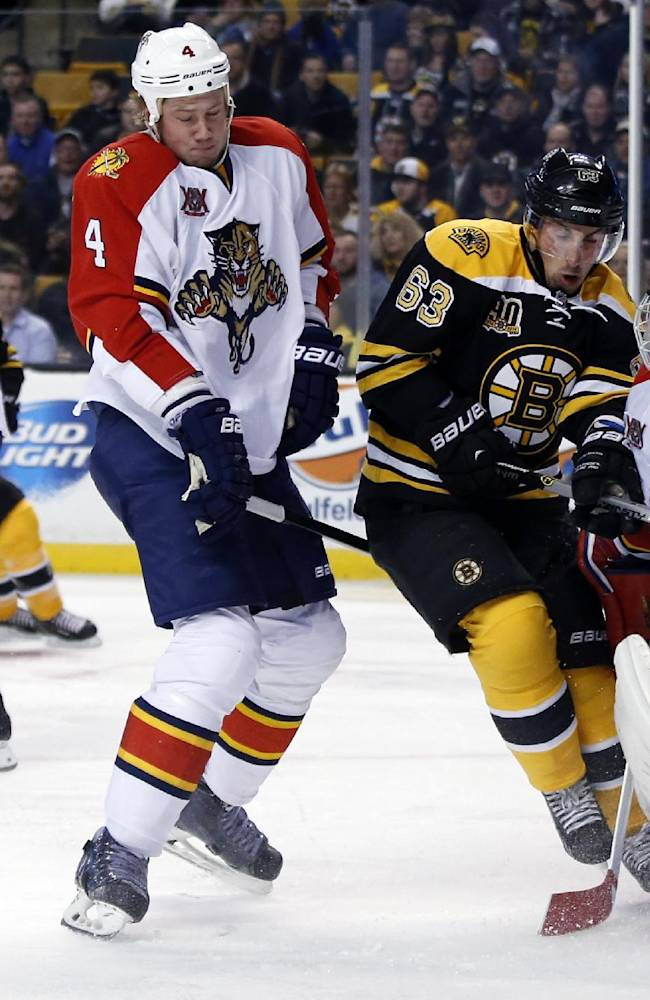 Krejci scores 3 for Bruins in 4-1 win over Florida