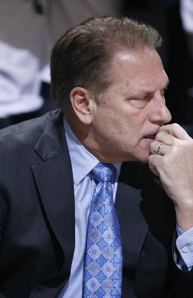 Michigan State coach Tom Izzo is seen during an NCAA college basketball game against Columbia, Friday, Nov. 15, 2013, in East Lansing, Mich. Michigan State won 62-53