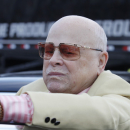 Texas Motor Speedway owner Bruton Smith is seen before the NASCAR Sprint Cup series NRA 500 auto race at Texas Motor Speedway  Saturday, April 13, 2013, in Fort Worth, Texas. (AP Photo/Tim Sharp)
