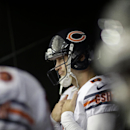 In this Oct. 12, 2014, file photo, Chicago Bears quarterback Jay Cutler (6) waits to take the field before the first half of an NFL football game against the Atlanta Falcons in Atlanta. There's no truth to the rumor Cutler is about to be charged with star