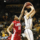 University of New Mexico junior Kendall Williams (10) was called for an over the back foul on Cowboy's junior Nathan Sobey (20) during the second half of the game at the Arena-Auditorium in Laramie on Wednesday Jan. 30, 2013. (AP Photos/Laramie Boomerang, Jeremy Martin)