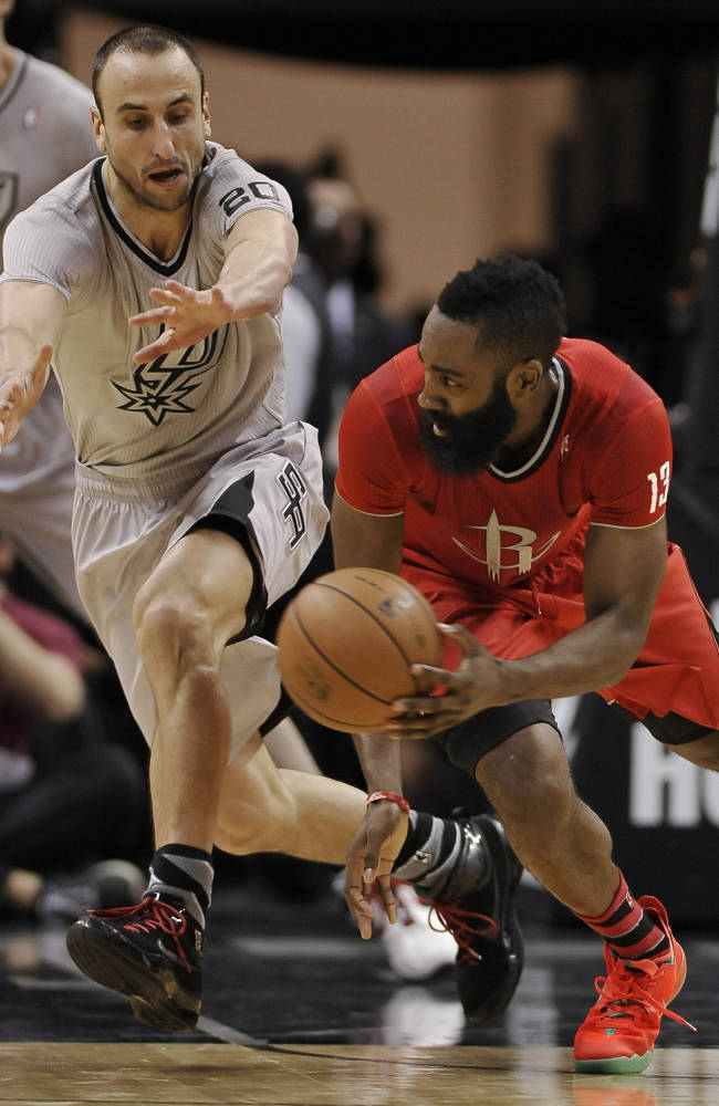Harden helps Rockets knock off Spurs 111-98