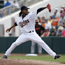 Twins' Santana reinstated from suspension, will start Sunday The Associated Press