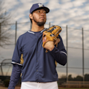 MARYVALE, AZ - FEBRUARY 23: Yovani Gallardo #49 of the Milwaukee Brewers poses for a portrait on photo day at the Milwaukee Brewers Spring Training Complex in Maryvale, Arizona on February 23, 2014. (Photo by Rob Tringali/Getty Images) Getty Images