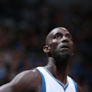 MINNEAPOLIS, MN - FEBRUARY 28: Kevin Garnett #21 of the Minnesota Timberwolves during the game against the Memphis Grizzlies on February 28, 2015 at Target Center in Minneapolis, Minnesota. (Photo by David Sherman/NBAE via Getty Images)