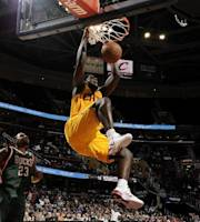CLEVELAND, OH - OCTOBER 8: Anthony Bennett #15 of the Cleveland Cavaliers dunks the ball against Stephen Graham #23 of the Milwaukee Bucks at The Quicken Loans Arena on October 8, 2013 in Cleveland, Ohio. (Photo by David Liam Kyle/NBAE via Getty Images)