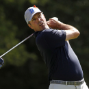 Matt Kuchar tees off on the 17th hole during the second round of the Deutsche Bank Championship golf tournament in Norton, Mass., Saturday, Aug. 30, 2014. (AP Photo/Stew Milne)
