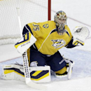 Nashville Predators goalie Pekka Rinne, of Finland, plays against the Los Angeles Kings in the first period of an NHL hockey game on Thursday, Oct. 17, 2013, in Nashville, Tenn The Associated Press