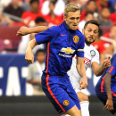 IMAGE DISTRIBUTED FOR GUINNESS INTERNATIONAL CHAMPIONS CUP - Manchester United midfielder Darren Fletcher (24) moves the ball down the field during a match between Inter Milan and Manchester United in the 2014 Guinness International Champions Cup on Tuesd