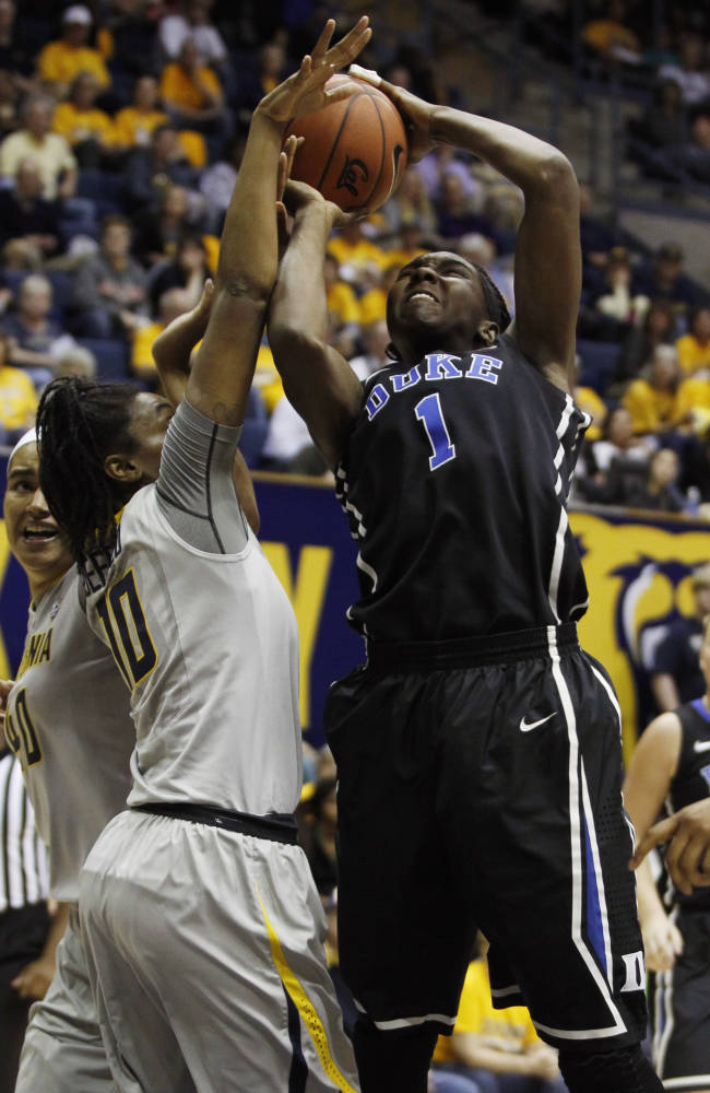Gray leads No. 2 Duke women past No. 9 Cal, 70-58