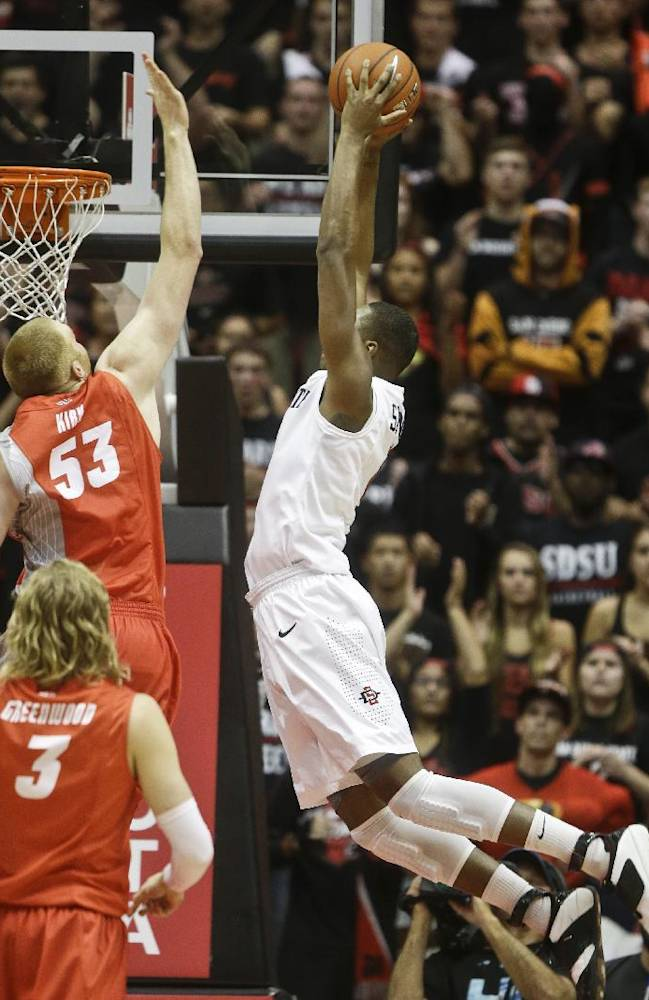 No. 10 SDSU rallies to beat No. 21 Lobos 51-48