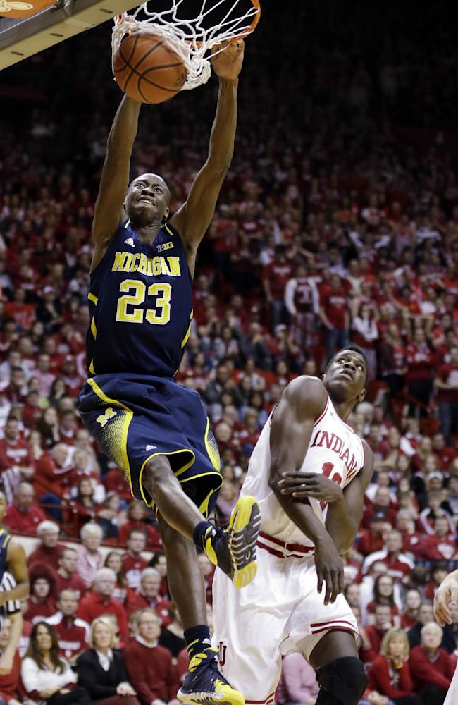 Ferrell lifts Indiana to upset of No. 10 Michigan